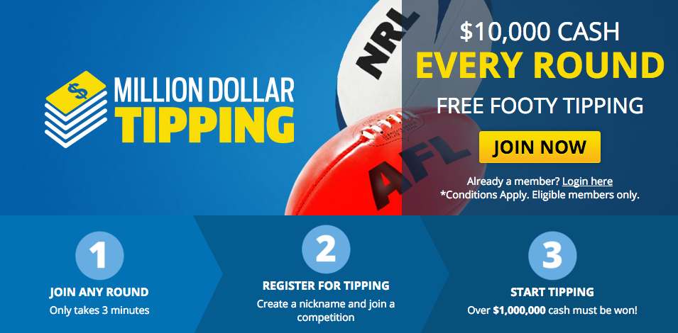 Million Dollar Tipping AFL, NRL 2016