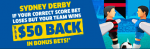 Sportsbet.com.au bet back sports