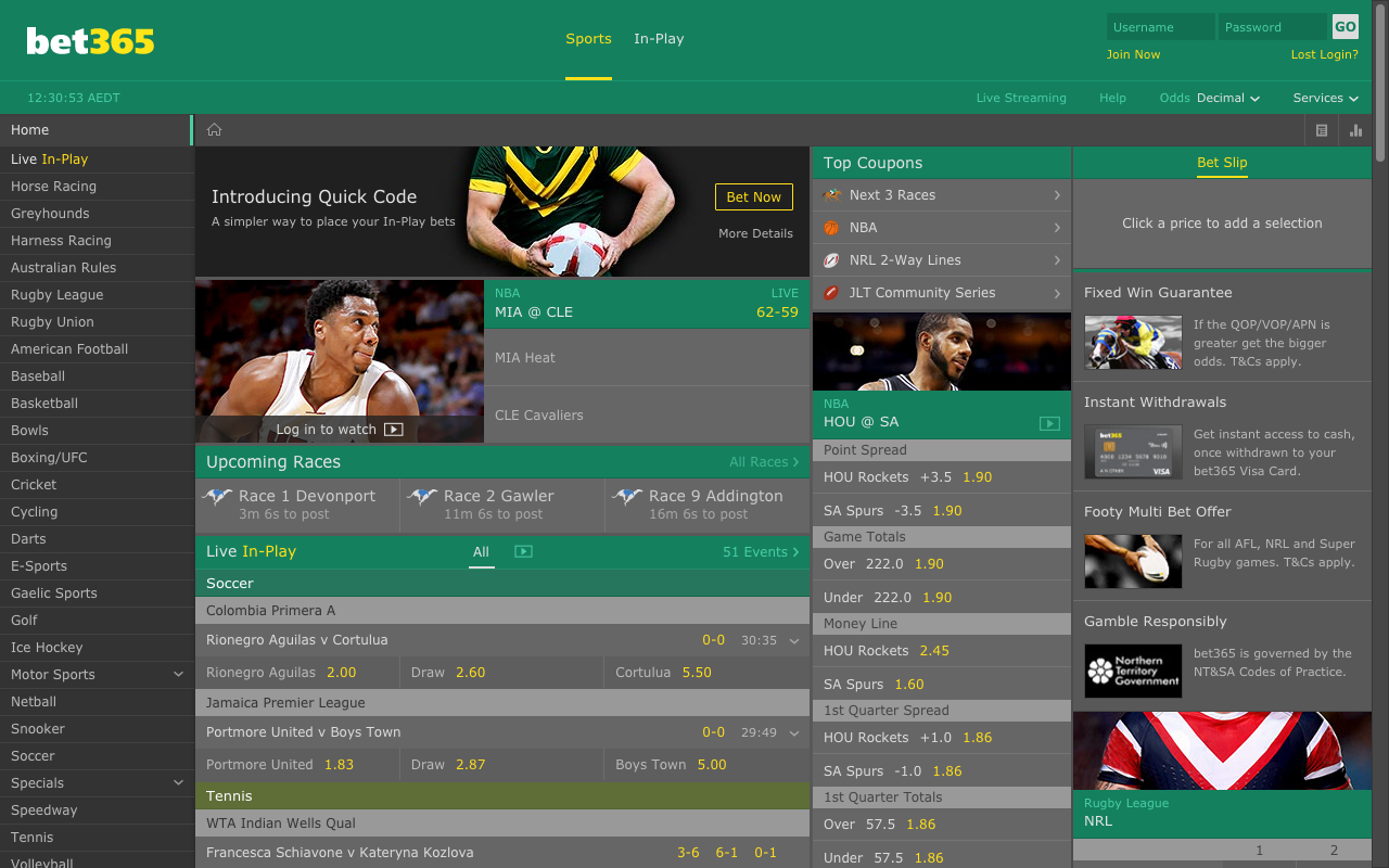 Bet365.com.au Review + Offers at Bet365