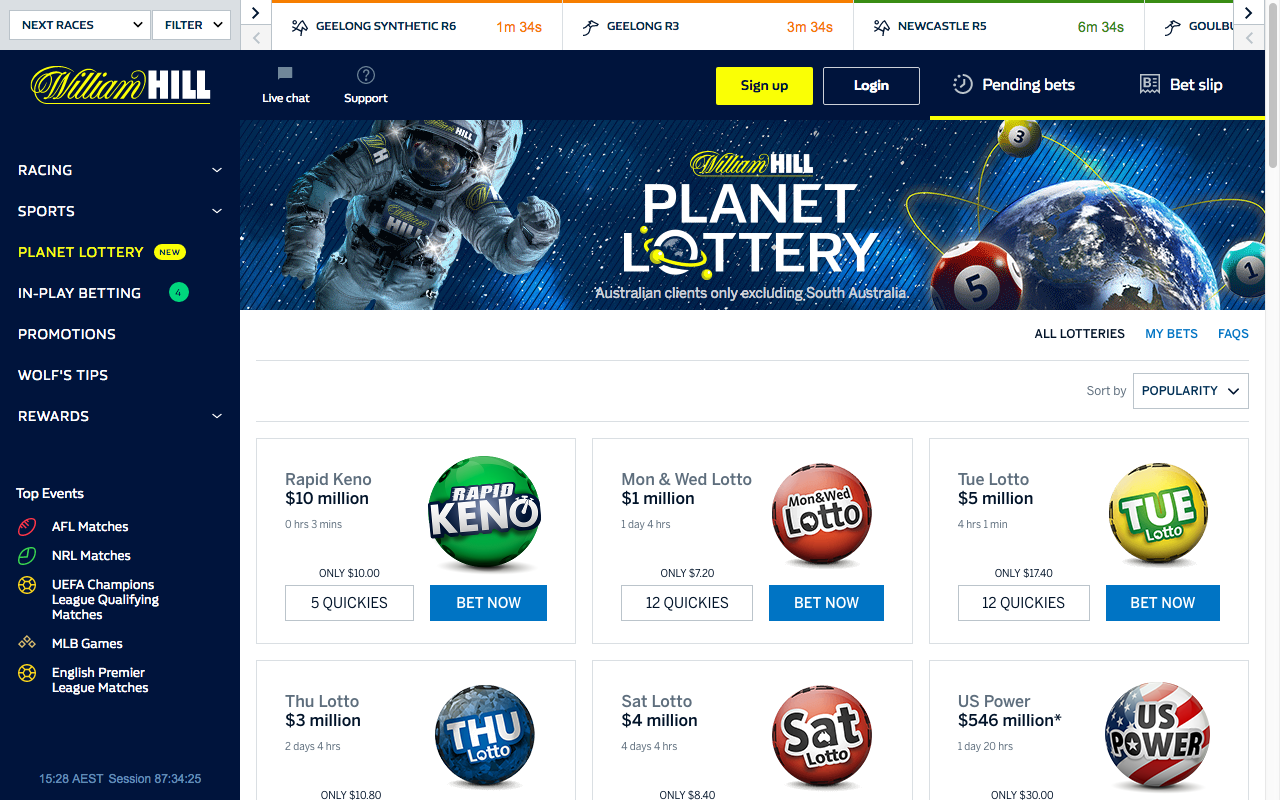 Planet Lottery Review + $502 William Hill Free Bet Bonus